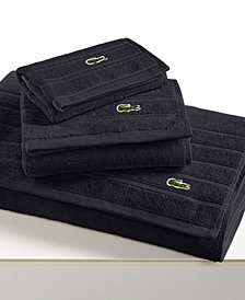 """CLOSEOUT! Lacoste Croc Solid 16"""" x 30"""" Hand Towel"""
