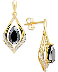Onyx (1-1/4 ct. t.w.) and Diamond Accent Earrings in 14k Gold