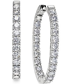 In-and-Out Diamond Hoop Earrings (3 ct. t.w.) in 14k White Gold