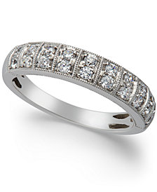Two-Row Diamond Band (1/2 ct. t.w.) in 14k White Gold