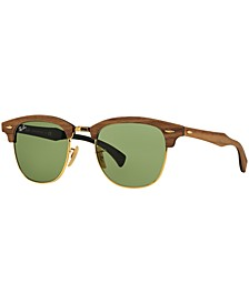 Sunglasses, RB3016M CLUBMASTER WOOD