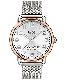 COACH WOMEN'S DELANCEY STAINLESS STEEL MESH BRACELET WATCH 36MM 14502266
