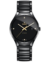 c1aa3943b7b Rado Men s Swiss Automatic True Black Diamond Accent Ceramic Bracelet Watch  40mm R27056712