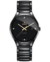 d2babafe686 Rado Men s Swiss Automatic True Black Diamond Accent Ceramic Bracelet Watch  40mm R27056712