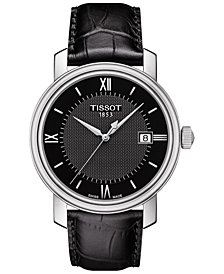Tissot Men's Swiss Bridgeport Black Leather Strap Watch 40mm T0974101605800