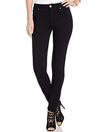 INC Petite Curvy-Fit Ponté Skinny Pants, Created for Macy's