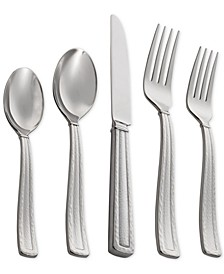 Stainless Steel Hammertone Collection 5-Pc. Flatware Set
