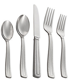 Michael Aram Stainless Steel Hammertone Collection 5-Pc. Flatware Set