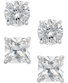 Giani Bernini Cubic Zirconia Stud Earring Set in Sterling Silver