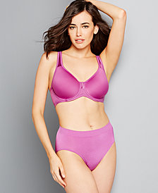 Wacoal Basic Beauty Spacer Contour Bra and B-Smooth High-Cut Brief