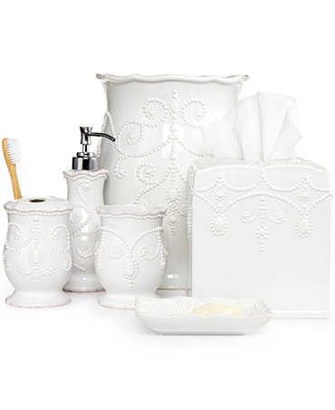 Lenox bath accessories french perle collection bathroom for The collection bathroom accessories