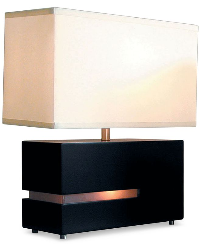 Nova Lighting Zen Reclining Wood Table Lamp