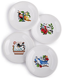 Fiesta Twelve Days of Christmas Set of 4 Salad/Dessert Plates, First Series in a Series of Three