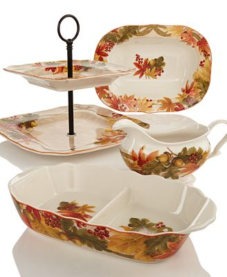 222 Fifth Holiday Autumn Celebration Serveware Collection ...