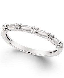 Diamond Wedding Band (1/10 ct. t.w.) in 14k White Gold