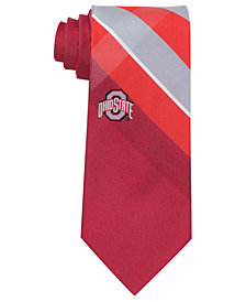 Eagles Wings Ohio State Buckeyes Woven Grid Tie