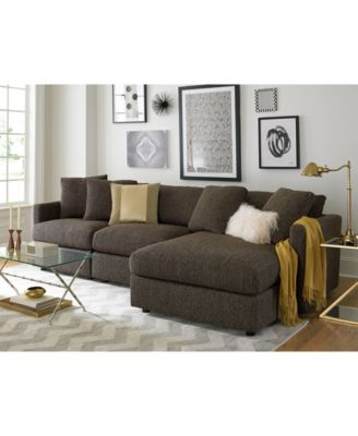 Clinton Fabric 5-Piece Sectional with 2 Armless Chairs Created for Macyu0027s - Furniture - Macyu0027s  sc 1 st  Macyu0027s : macys furniture sectional - Sectionals, Sofas & Couches