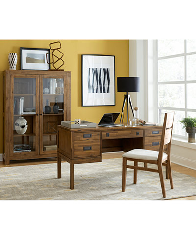 Champagne Desk and Display Cabinet, Created for Macy's
