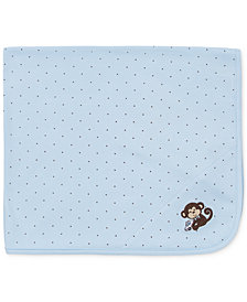 Little Me Baby Boys Monkey Blanket