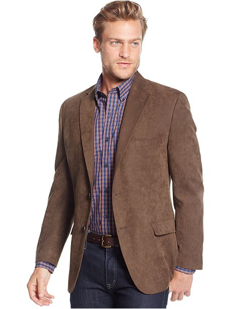 Tasso Elba Classic-Fit Microsuede Sport Coat, Created for Macy's