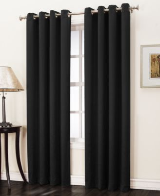"""Collins Crushed Solid Room Darkening Woven Curtain 50"""" x 84"""" Panel"""