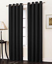 "Sun Zero Collins Crushed Solid Room Darkening Woven Curtain 50"" x 63"" Panel"