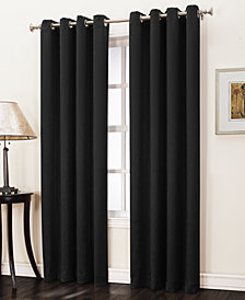 "Sun Zero Collins Crushed Solid Room Darkening Woven Curtain 50"" x 95"" Panel"