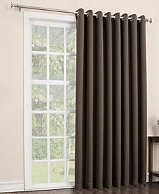 "CLOSEOUT! Sun Zero Preston 100"" x 84"" Blackout Grommet Patio Panel"