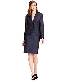 Anne Klein Denim Blazer & Pencil Skirt