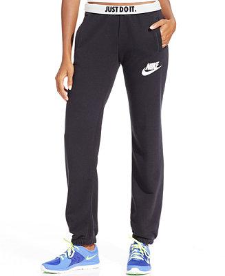Original Nike Rally Fleece Sweatpants In Purple MulberryMidnight Navy  Lyst