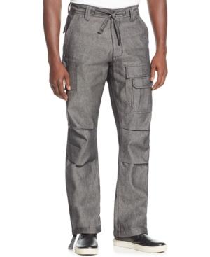 Men's Steampunk Pants & Trousers Sean John Mens Pleat Pocket Flight Cargo Pants Created for Macys $52.12 AT vintagedancer.com