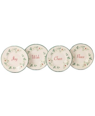 Winterberry Collection Stoneware Appetizer Plates, Set of 4, Created for Macy's