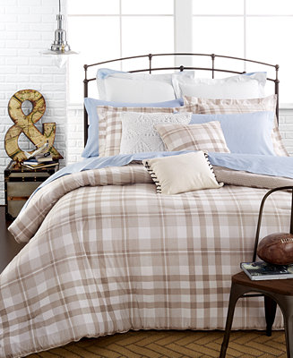 Closeout Tommy Hilfiger Range Plaid Comforter Sets