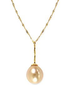 EFFY® Golden South Sea Pearl (11mm) Necklace in 14k Gold