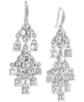 Carolee silver tone crystal double drop chandelier earrings image 1 of carolee silver tone crystal double drop chandelier earrings mozeypictures Images