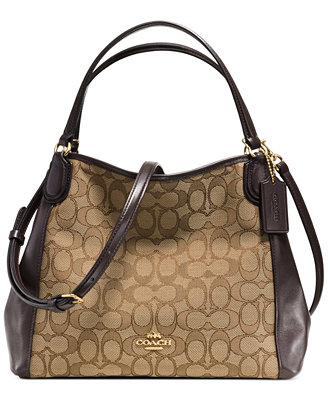 coach edie shoulder bag 28 in signature jacquard
