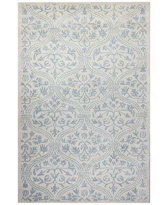 Macy S Fine Rug Gallery Bordeaux Floral Vase Ivory Blue 2