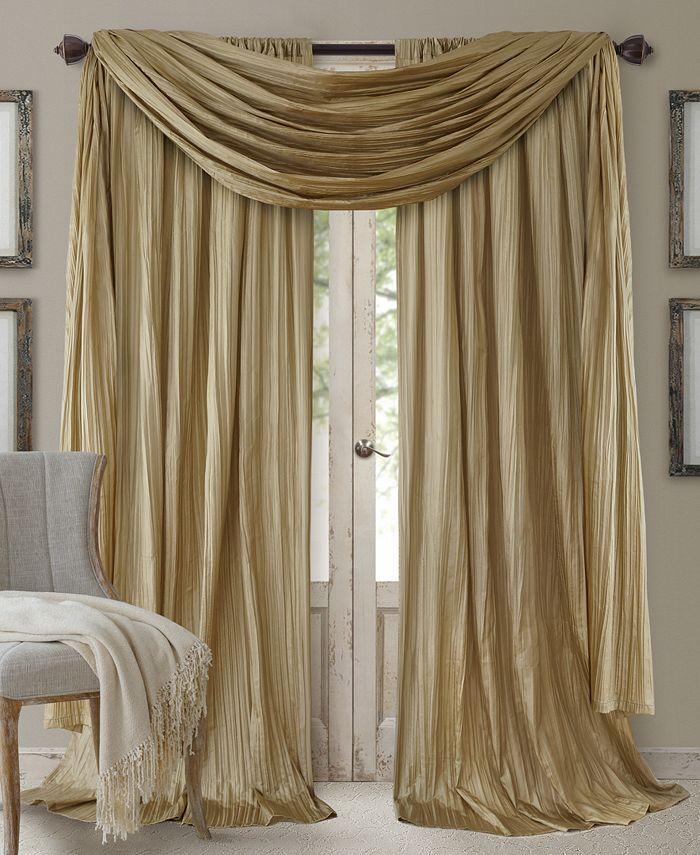 Elrene - Athena Rod Pocket Pair of Curtain Panels with Scarf Valance, Set of 3