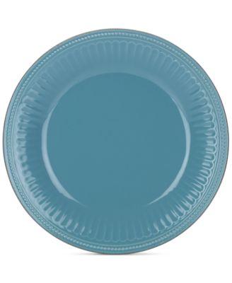 main image; main image ...  sc 1 st  Macyu0027s & Lenox Dinnerware Stoneware French Perle Groove Bluebell Dinner Plate ...