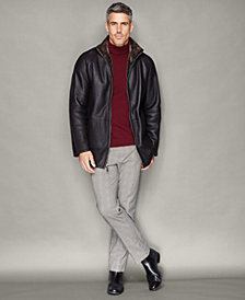 The Fur Vault Shearling Lamb Zip-Front Jacket