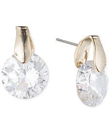 Anne Klein Round Crystal Stud Earrings