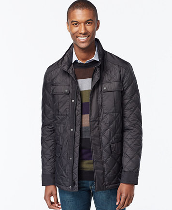 Michael Kors Mens Quilted Filed Coat Coats Jackets Men Macys