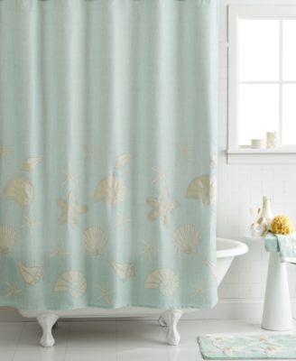 "Bath, Sequin Shells 72"" x 72"" Shower Curtain"