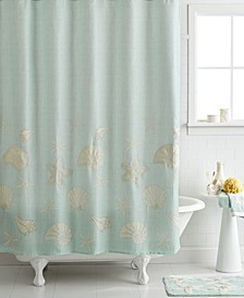 "Bath, Sequin Shells 72"" x 72"" Shower Curtain"