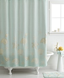 "Avanti Bath, Sequin Shells 72"" x 72"" Shower Curtain"