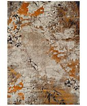 CLOSEOUT! Dalyn Modern Abstracts Terrene Tangerine Area Rugs