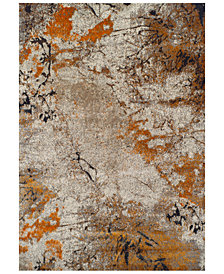 "CLOSEOUT! Dalyn Modern Abstracts Terrene Tangerine 5'3"" x 7'7"" Area Rug"