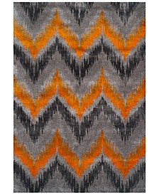 "CLOSEOUT! Modern Abstracts Chevron Tangerine 3'3"" x 5'1"" Area Rug"