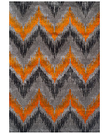 "CLOSEOUT! Dalyn Modern Abstracts Chevron Tangerine 7'10"" x 10'7"" Area Rug"