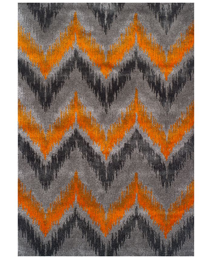 Dalyn - Modern Abstracts Chevron Tangerine Area Rugs